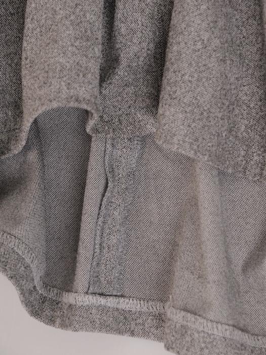 Elegancka sukienka z kołnierzykiem Elfryda II, szara kreacja w stylu pensjonarskim