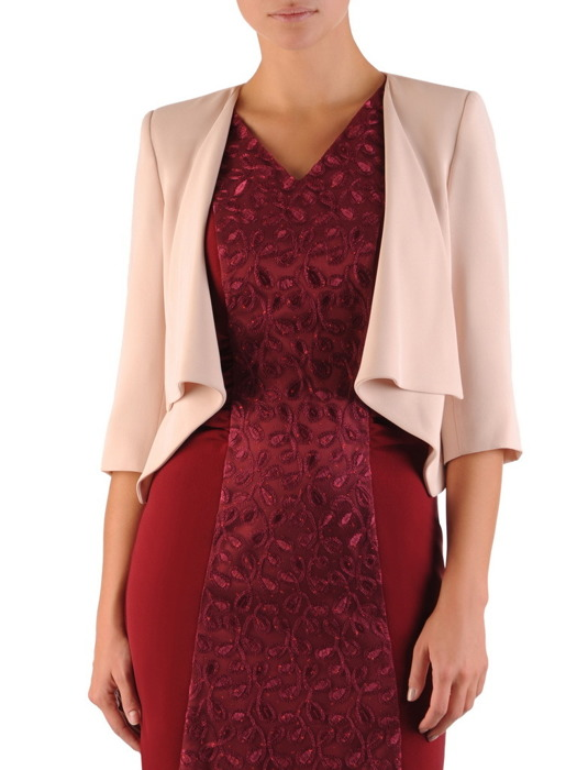 Elegancka sukienka z lekką narzutką 22280