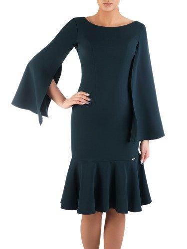Elegancka sukienka z modnymi, rozciętymi rękawami 14494.