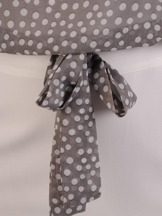 Elegancka sukienka z szyfonowym topem w groszki 21982