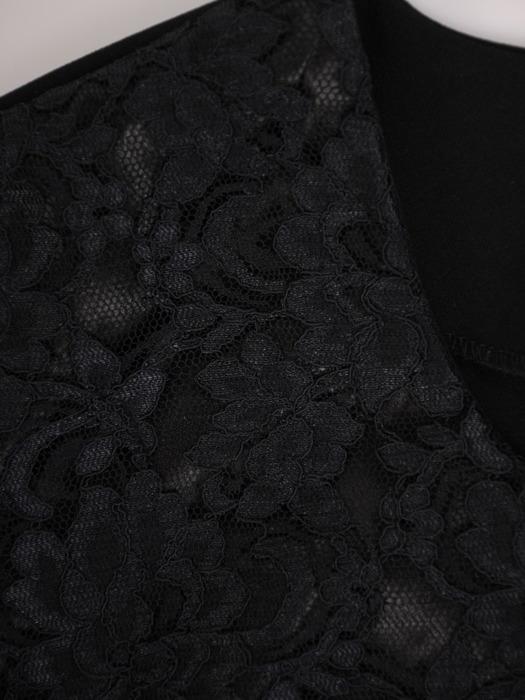Elegancka, trzyczęściowa garsonka w kolorze czarnym Amadea IV