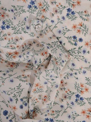 Elegancka tunika w drobny, kwiatowy wzór 16067.
