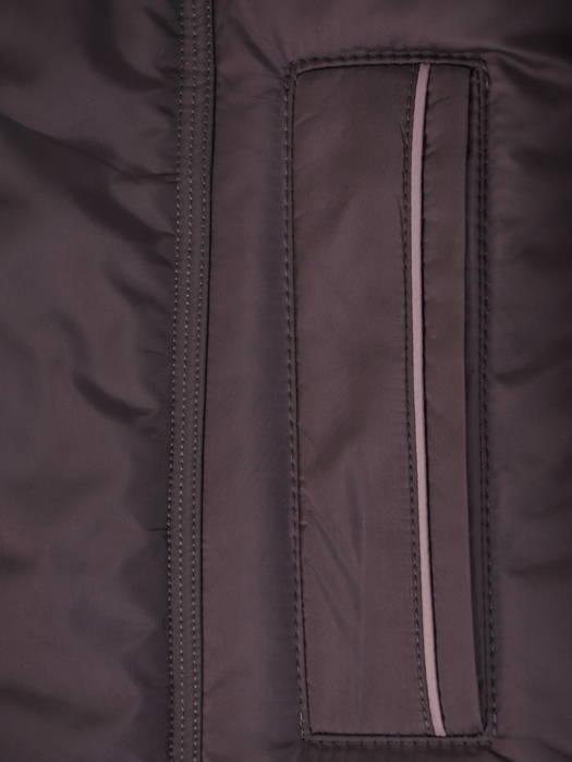 Fioletowy płaszcz damski z szerokim kołnierzem i odpinanym kapturem 30648
