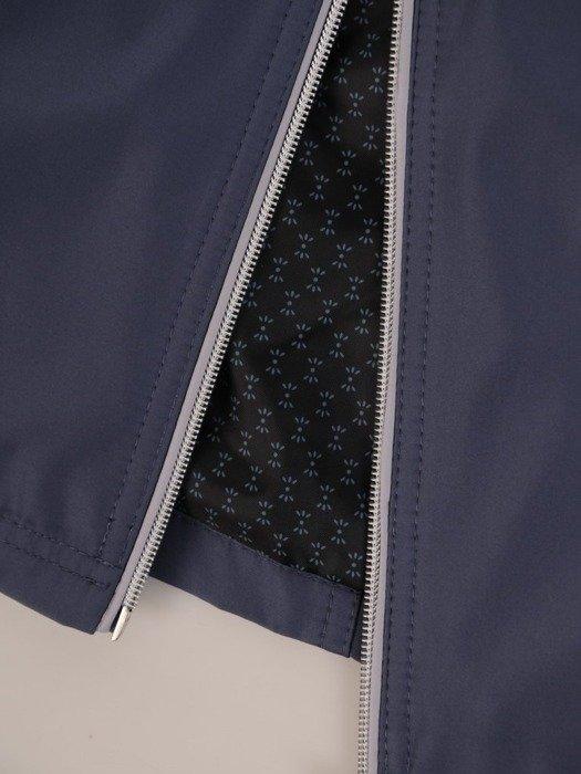 Grafitowa kurtka z ozdobnymi zamkami i kapturem 25145