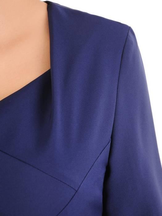 Granatowa, elegancka sukienka z wyszczuplającymi zaszewkami 30513