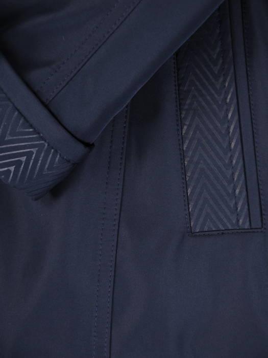 Granatowa kurtka z odpinanym kapturem 30645