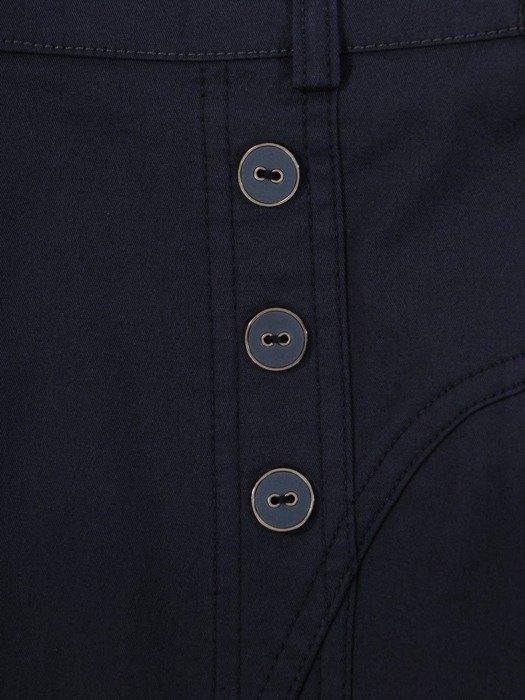 Granatowa spódnica z bawełny 24656