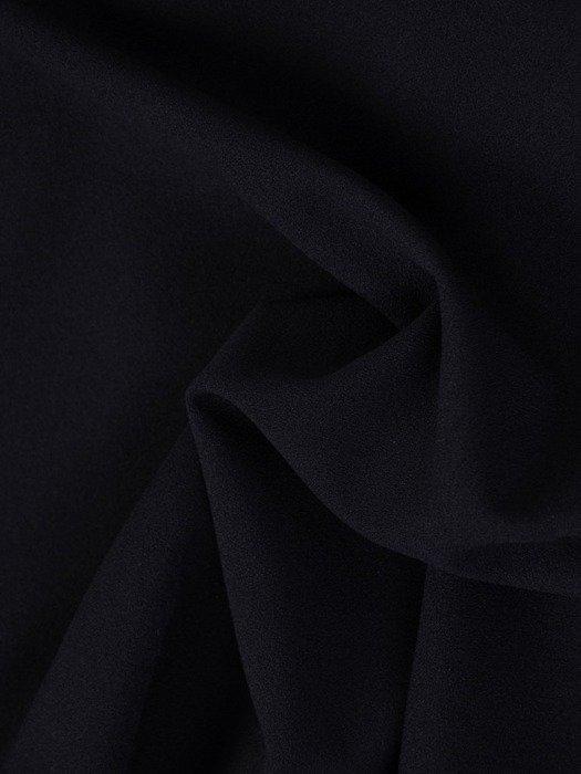 Granatowa sukienka z dzianiny, kreacja z kopertowym dekoltem 24099
