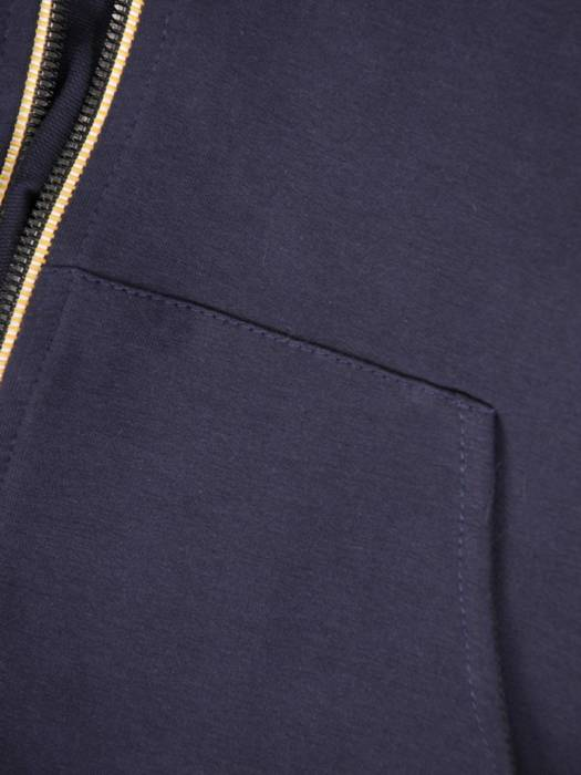 Granatowy dres z bawełny, komplet z ozdobnymi zamkami 29679