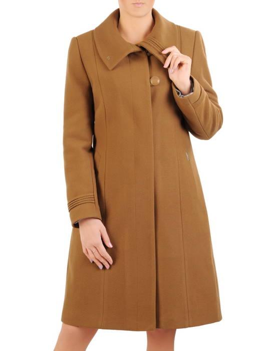 Gustowny płaszcz damski, wełniane okrycie na zimę 31064