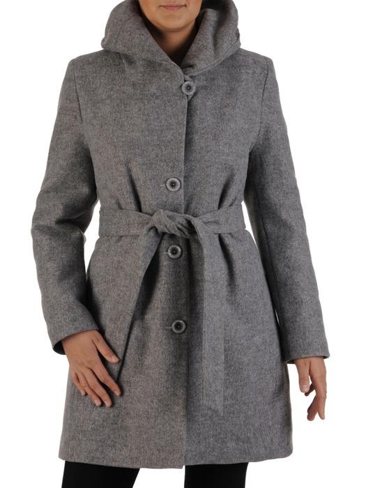 Jesienny płaszcz z szerokim paskiem 22326