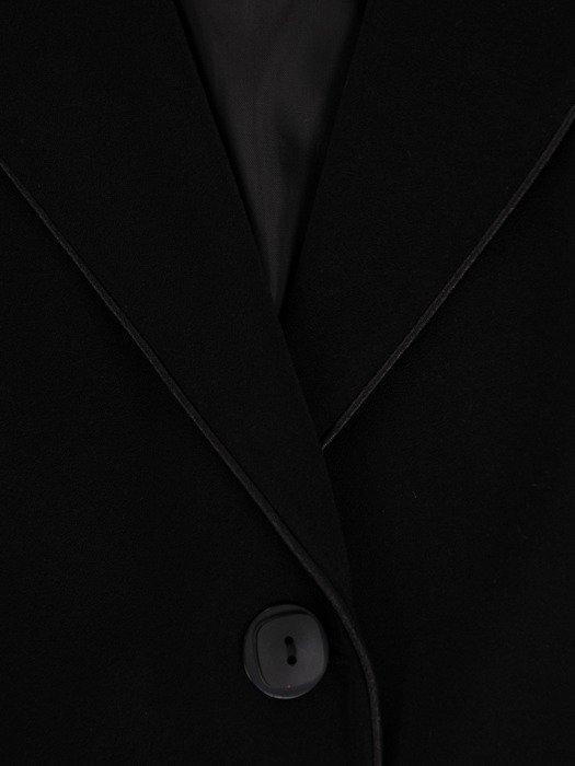 Kolekcja 28356, czarny klasyczny zestaw sukienka, żakiet, spódnica i spodnie z lamówkami