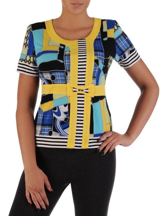 Kolorowa bluzka z efektowną kokardą Mirena III