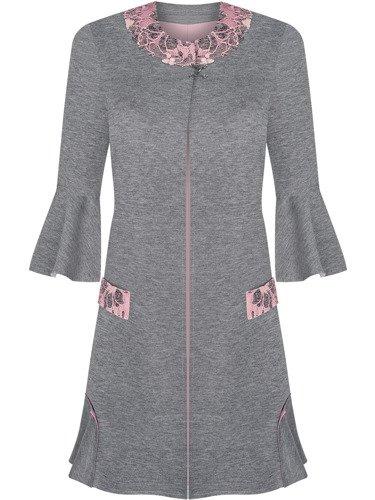 Komplet damski Amelia II, sukienka z płaszczem w wiosennej kolorystyce.