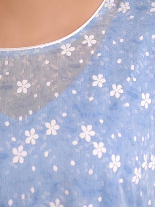 Komplet damski, prosta sukienka z luźną, szyfonową narzutką 20719.