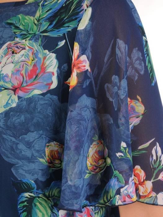 Komplet damski z szyfonową, asymetryczną bluzką 28612