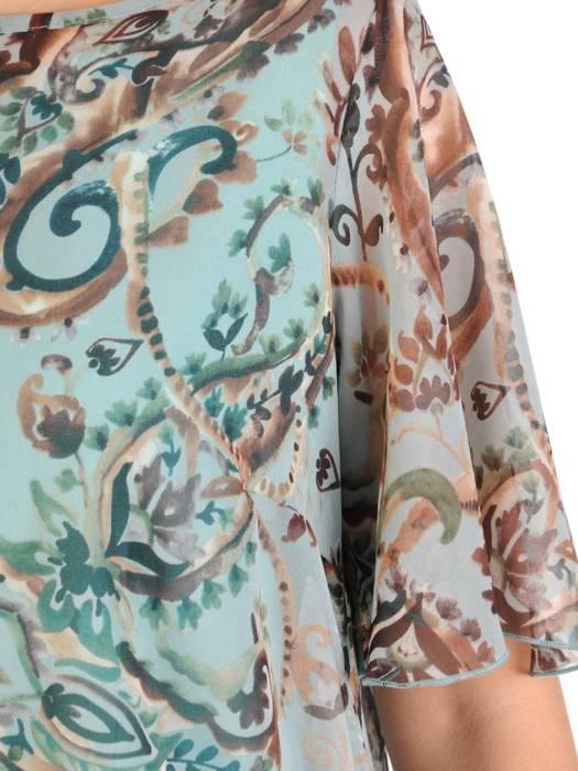 Komplet damski z szyfonową, asymetryczną bluzką 29353