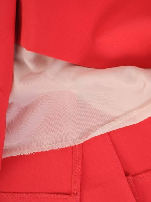 Komplet damski z szyfonową, asymetryczną bluzką 29515