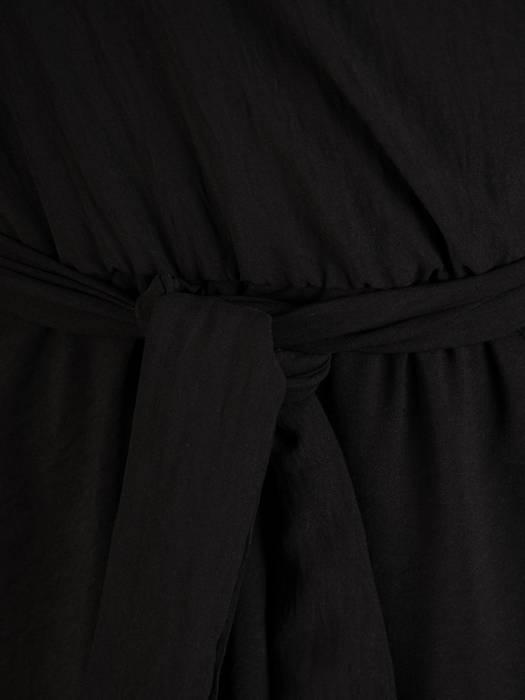 Kopertowa sukienka midi, kreacja z regulowanymi ramiączkami 30277