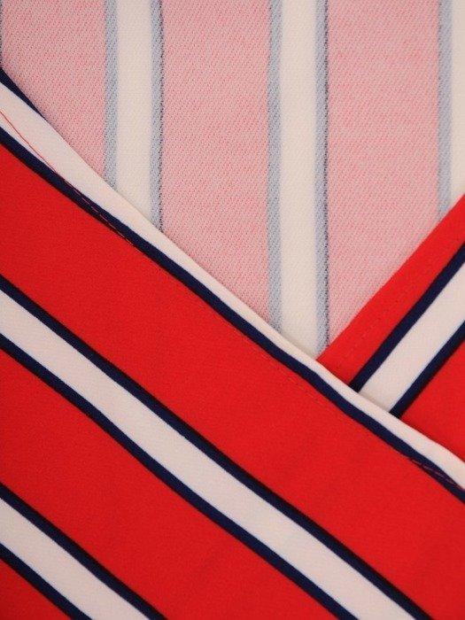 Kopertowa sukienka w wyszczuplającym wzorze 23012