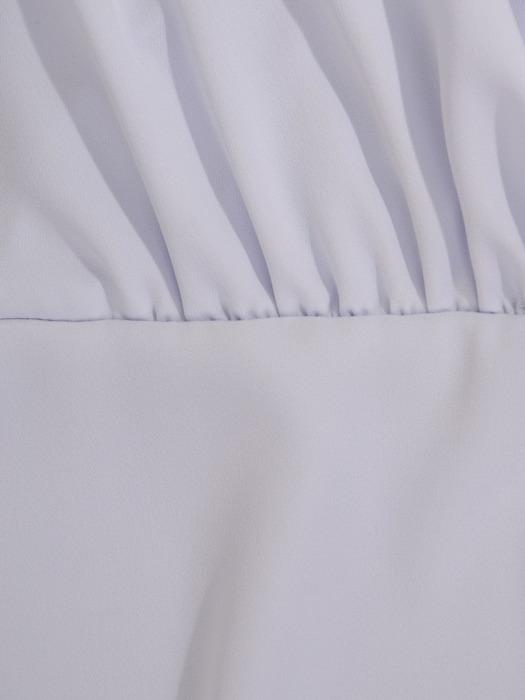 Kopertowa sukienka z falbaną, elegancka kreacja w kolorze szarym 21954