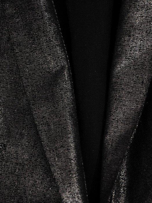 Kopertowa sukienka z połyskującej tkaniny, wizytowa kreacja z kołnierzem 19903
