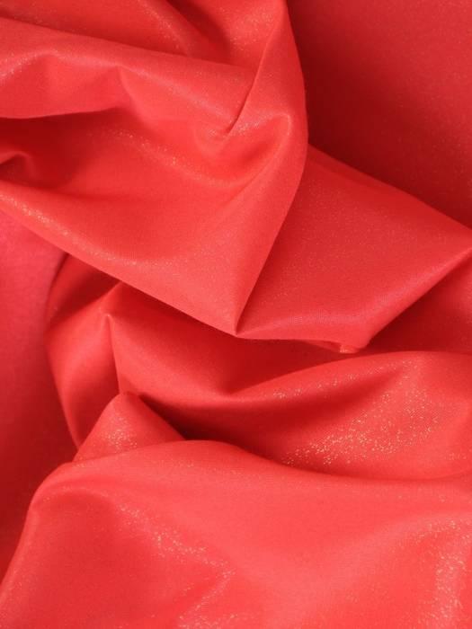 Koralowa połyskująca sukienka, kreacja z paskiem 27067