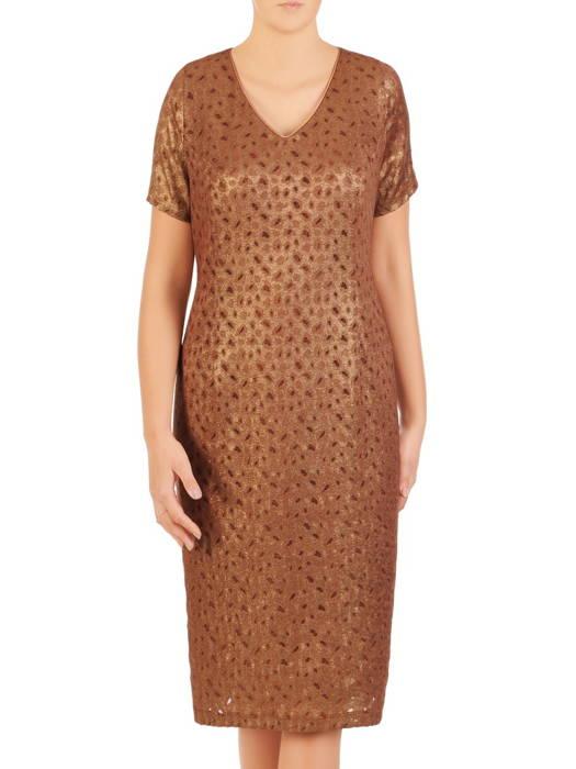 Kostium damski, elegancka sukienka z szyfonową narzutką 30602