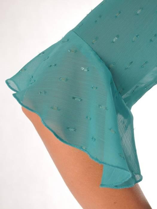 Kostium damski, zielona sukienka z żakietem 26632