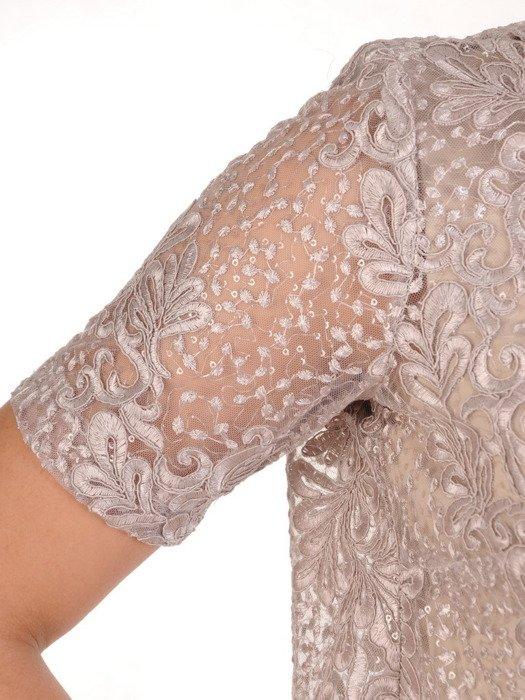 Kostium na wesele, elegancka sukienka z krótkim koronkowym żakietem 19862.