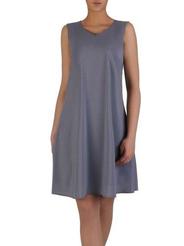Kostium z eleganckiego szyfonu 15208, zwiewna sukienka z modną narzutką.