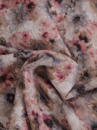 Kwiatowa sukienka w nowoczesnym stylu 16450.