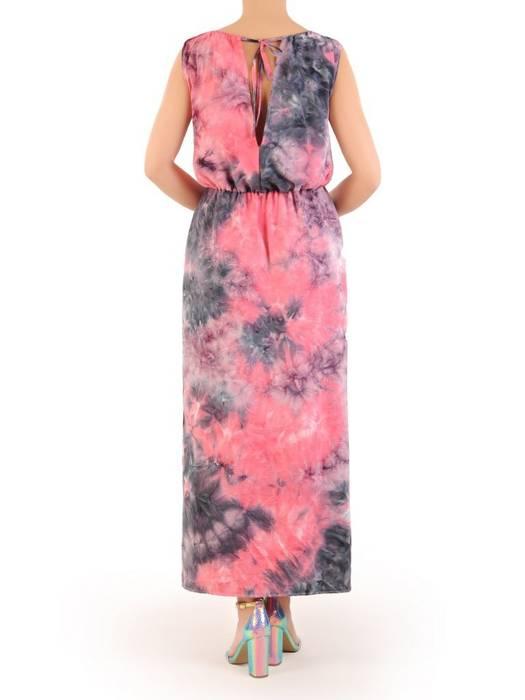 Letnia sukienka maxi, kreacja z drapowanym dekoltem 30304
