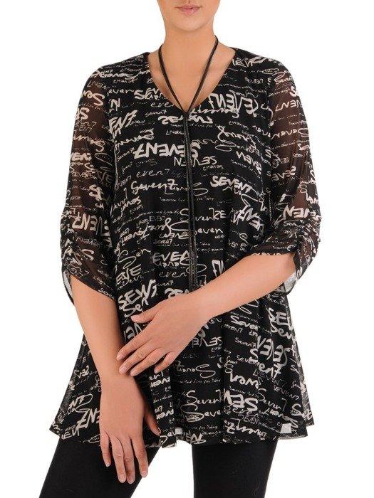 Luźna bluzka w modnym wzorze 26129