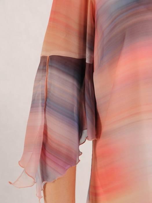 Luźna, cieniowana tunika ze zwiewnego szyfonu 30128