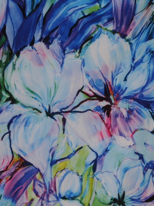 Luźna sukienka w oryginalny, kwiatowy deseń 20869