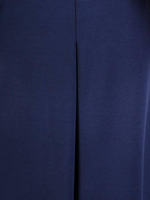 Luźna sukienka z kontrafałdą, oryginalna kreacja z golfem 28604