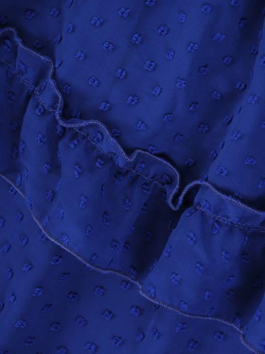 Luźna sukienka z modnymi falbankami, kreacja z szyfonu bubble 30239