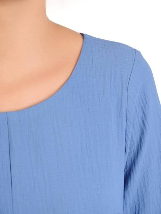 Luźna sukienka z przewiewnej tkaniny w modnym odcieniu niebieskiego 30214