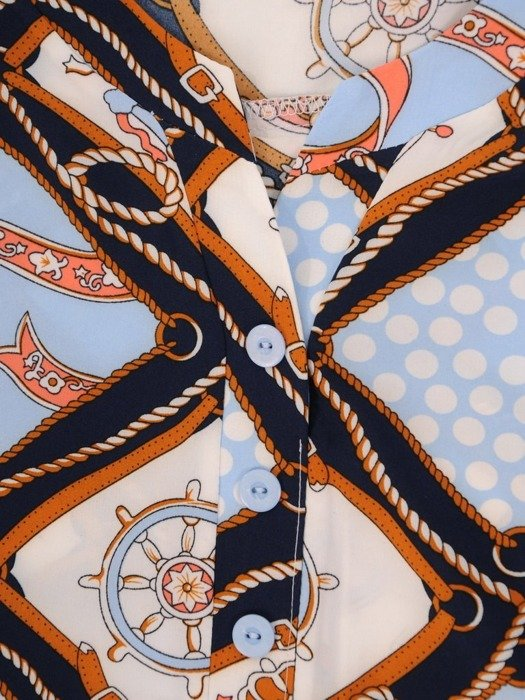 Luźna tunika w ciekawej kolorystyce 24980