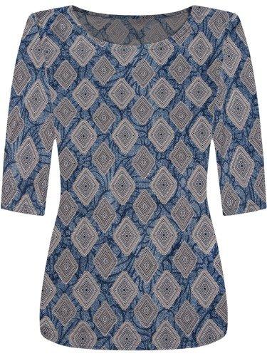 Modna bluzka w geometryczny wzór Ulryka II.