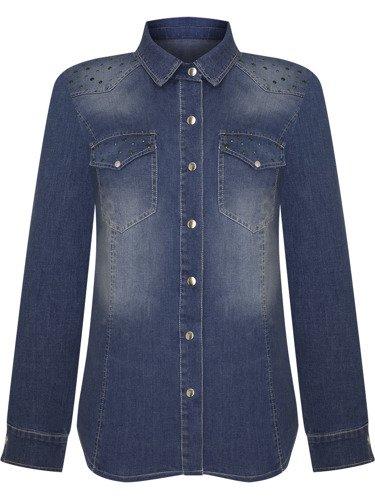 Modna koszula z błękitnego dżinsu Malwina IV.