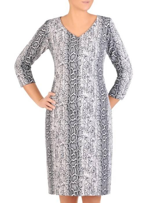 Modna sukienka w elegancki, zwierzęcy wzór 27770