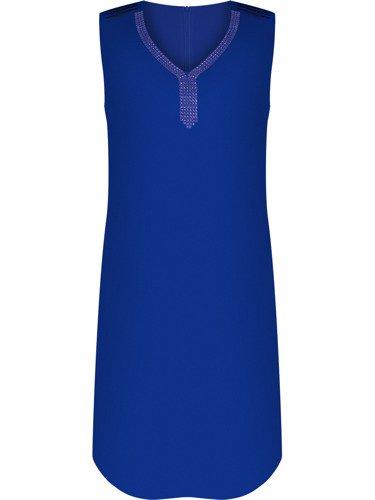 Modna sukienka z aplikacją z cyrkonii Petronela III.