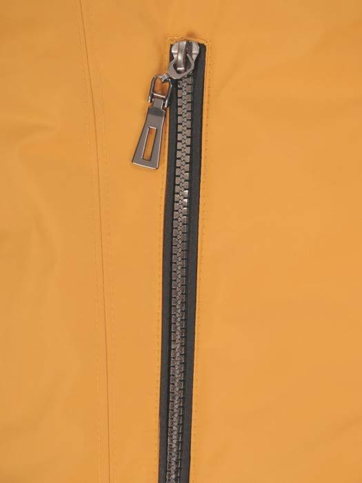 Musztardowa kurtka z odpinanym kapturem 29084