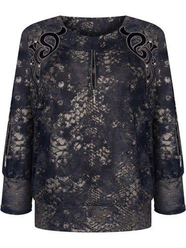 Nowoczesna bluzka z ozdobnymi listwami 14533.