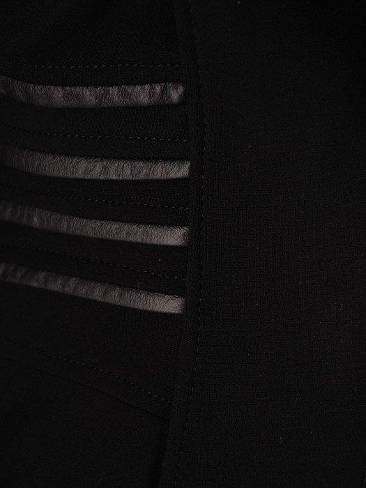 Nowoczesna kurtka ze skórzanymi wstawkami 18565.