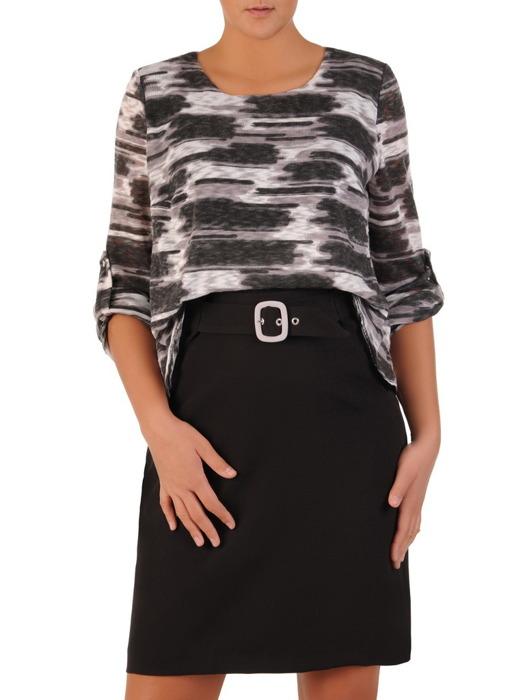 Nowoczesna sukienka damska, kreacja z łączonych materiałów 21869