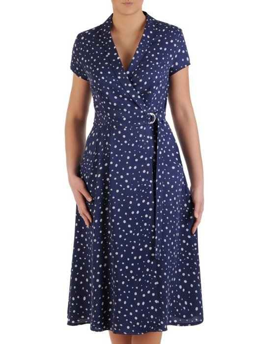 Nowoczesna sukienka kopertowa 25340