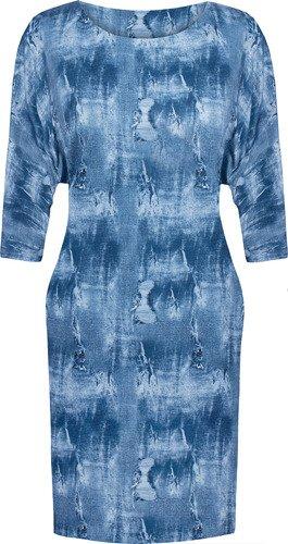 Nowoczesna sukienka z modnymi rękawami Hanka II.